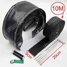 OUT TURBO HEAT SHIELD BLANKET T4 + MANIFOLD DOWNPIPE WRAP 5CM X 10M BLACK