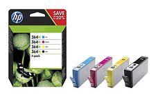 4 Original HP 364XL InkS Cartridges  Black Cyan Magenta Yellow 364 XL N9J74AE bn