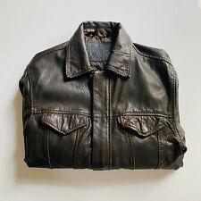Levi's Lambskin Leather Trucker / Bomber Hybrid Jacket
