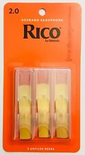 Rico Soprano Saxophone Reeds #2.0 (3-pack) orange box