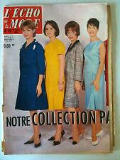 L'echo de la mode n° 10 année 1962;  Mode/ Ouvrage/ Cuisine / Romans