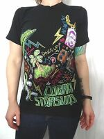 Cobra Starship Chalk Doodle Artwork Black Cotton Graphic Tee Sz Men XS Jrs M