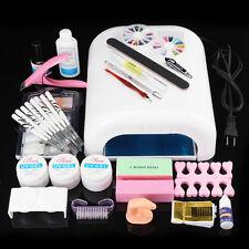 Nail Art Tools Sets -36W UV Gel Lamp Dryer Imitated Finger Zebra Pen Brush Kit