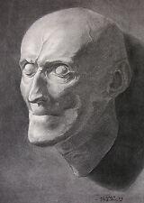 Alexander von Humboldt, máscara mortuoria, aerógrafo en bütten, h. lamp, 1903