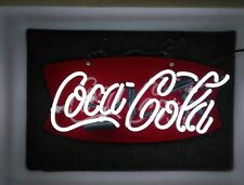 "Coca Cola Neon Light Sign Lamp Beer 14"" Real Glass Artwork Man Cave Decor Bar"