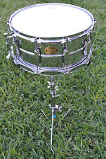 LUDWIG 6.5X14 LIMITED EDITION BRASS SHELL SUPRAPHONIC 402 SNARE DRUM! LOT #B320