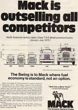 1975 OUTSELLING ALL COMPETITORS MACK TRUCK AD