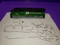 AS IS CASING RAILINGS BURLINGTON NORTHERN HO SCALE ATHEARN GP50 Phase 2 LOCO KIT