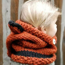 EE_ UK_ LC_ FOX EARS PATTERN KNITTED WARM HAT FASHION BABY INFANT KIDS HOODED SH