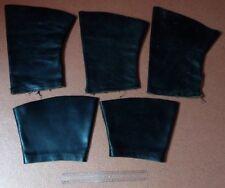 Lot de 5 morceaux de cuir noir pour restaurations/réparations/créations EP: 3mm