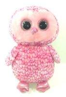 "Jumbo Pinky Beanie Boo Pink Owl Plush Collectible Stuffed Animal Night Bird 16 """