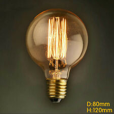 Antique Filament Edison Bulb E27 Screw Industrial Decor Light Lamp Globe G80 60w