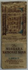 VINTAGE NIAGARA NATIONAL BANK BUFFALO MATCHBOOK COVER            (INV24938)
