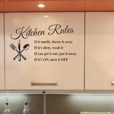 Kitchen Words Wall Stickers Decal Home Decor Vinyl Art Mural Removable NT5Z