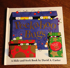 SIGNED & SKETCHED David Carter PEEKABOO BUGS Lift Flap 1st Edition 1st Printing!