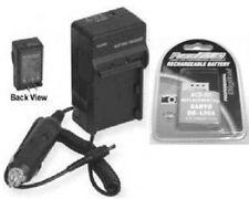 Battery + Charger for Sanyo VPC-SH1EX-B VPC-SH1TA VPC-SH1BK VPC-SH1R VPC-SH11