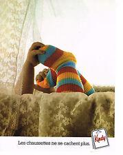 PUBLICITE ADVERTISING 044  1977  KINDY   chaussettes