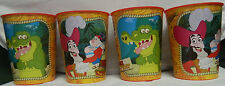JAKE AND THE NEVERLAND PIRATES PLASTIC PARTY CUPS 16 oz (VILLAINS) LOT OF 4