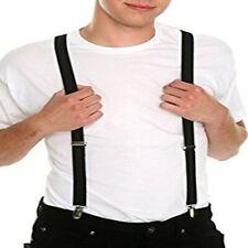 Plaid Charmer Brown Coloured 3 cm Strap Width Adjustable Elastic Suspenders Men