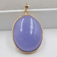 Jade Women Perfect Oval Lucky Pendant New Arrival Gp Alloy With Natural Purple