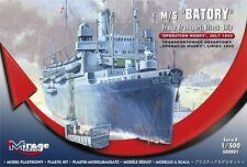 M/S (ORP) BATORY W/LCA & LCM3 VESSELS - TROOP CARRIER & ATTACK SHIP 1/500 MIRAGE