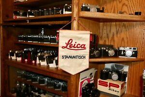 Leica Original Silk Embroidered Factory Stammtisch Banner