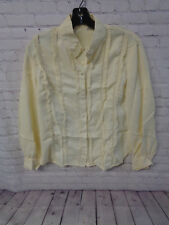 ! Vintage 50's Women's Yellow Blouse Long Sleeve Size 14/34