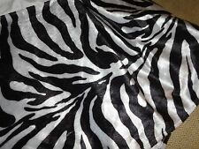 "WEST JUNCTION TAILORED FAUX FUR BLACK WHITE ZEBRA TWIN XL BEDSKIRT 15"" ANIMAL"