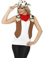 Instant Kit Wild West Cowgirl Adult Womens Smiffys Fancy Dress Costume -UK 12-14