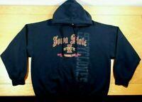 IOWA STATE CYCLONES Distressed Logo Black ISU Hooded Sweatshirt Hoodie Men's XL