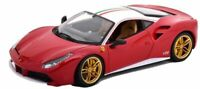 BURAGO 76105 FERRARI 488 GTB The Lauda 70th Anniversary model car Ltd Ed  1:18th
