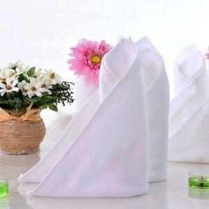 5 Pcs White Soft Microfiber Fabric Face Towel Hotel Bath Clean Terry Wash Cloth