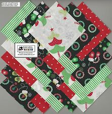 "25~5"" Christmas Tree_Wreath Fabric Squares/Quilt/Craft/Sew/Charm Packs #5879"