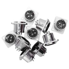 10 x XLR Male Chassis Panel Mount Socket 3 Pin Audio Studio Connector Z4E1