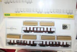 Trix H0 23963 DB Wagenset 'Holztransport' mit drei Wagen KKK - Neuzustand + OVP