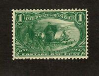 United States stamp #285, MNHOG,1899, 1c green, XF