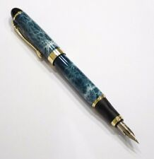 Jinhao X450 Blue Marble Fountain Pen GT, Zebra G Flex Nib Calligraphy - UK SOLD!