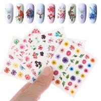 Manicure  Fingernail Decoration Water Transfer Pink Flower Nail Art Stickers