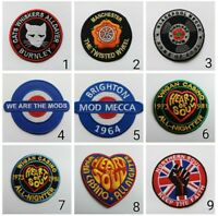ASSORTED SEW ON / IRON ON PATCHES:- NORTHERN SOUL WIGAN CASINO MODS SCOOTER SKA