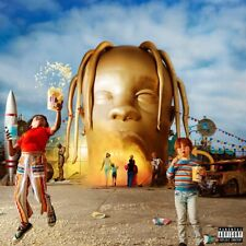 "ASTROWORLD - Travis Scott Album Poster 20x20"" 24x24"" Cover Music Art Silk Print"