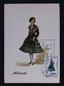SPAIN MK 1967 COSTUMES ALBACETE TRACHTEN MAXIMUMKARTE MAXIMUM CARD MC CM c6048
