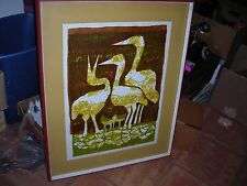 MCM Art David Weidman waterbirds 2 Lithograph Signed -Titled in Pencil E/250