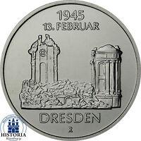 DDR 5 Mark 1985 stgl. Frauenkirche 40. Jahrestag der Zerstörung von Dresden