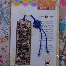 Metal Bookmark Korea Traditional Pattern BLACK Dragon  Freeshipping