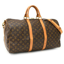 Auth LOUIS VUITTON Monogram Keepall Bandouliere  M41416 Traveling bag Brown
