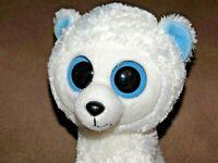 Ty Beanie Baby Boos Tundra Polar Bear Plush Stuffed Animal Doll