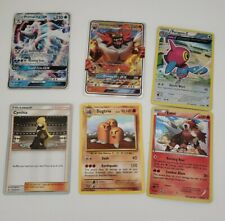 6 Card Mixed Lot w/Box Pokemon GX Primarina Incineroar, Wld Trainer Cynthia +3