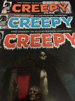 Creepy #7 8 9 Dark Horse Lot of 3 Horror Comic Books. Sharp Brand New Copies!