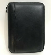 Franklin Covey 1996 Spacemaker Black Leather Compact Zip Close 6 Ring Planner