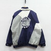 VTG Georgetown Hoyas Apex One Puffer Jacket Large 90s NCAA 1/2 Zip Insulated